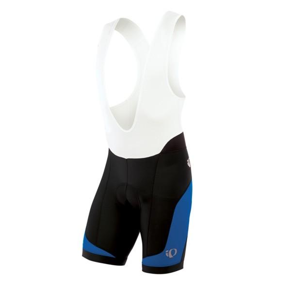 Elite Inrcool pyöräilyhousut pehmuste ja henkselit (lyhyt, sini/musta)