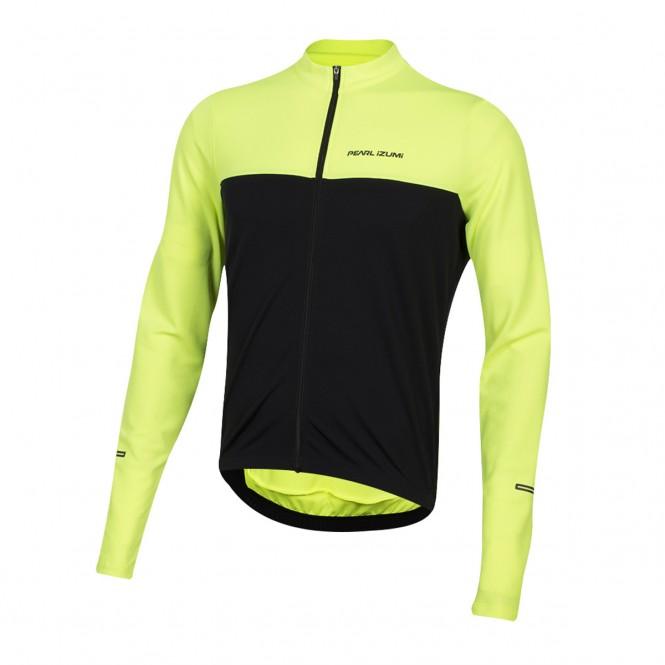 Quest LS, pyöräilypaita (pitkähiha, keltainen/musta)