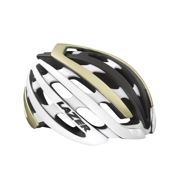 Z1 pyöräilykypärä (valkoinen/kulta)