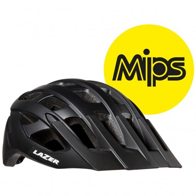 Roller Mips pyöräilykypärä (mattamusta)
