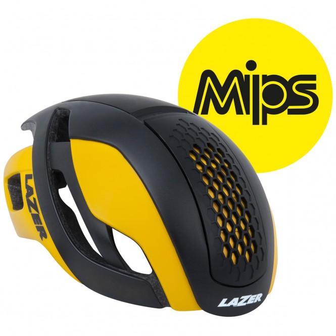 Bullet Mips pyöräilykypärä (musta keltainen)