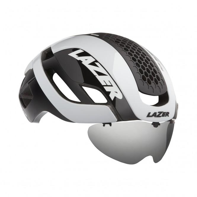 Bullet 2.0 Mips pyöräilykypärä + visiiri + takavalo (valkoinen)