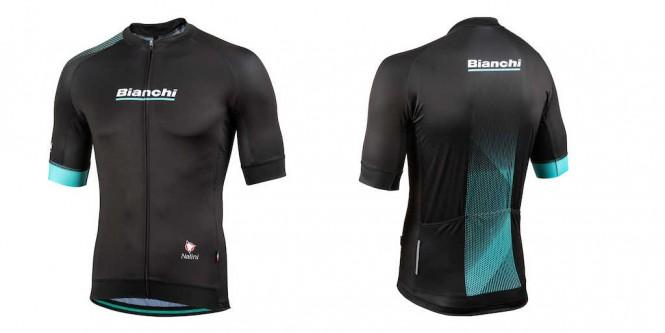 Bianchi miesten pyöräilypaita (Musta)