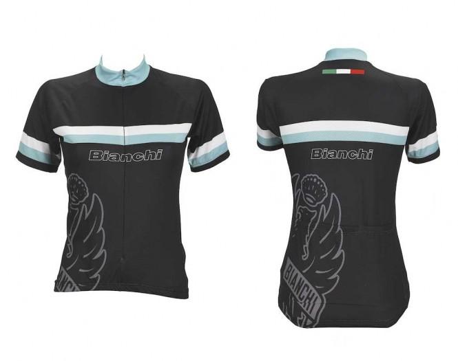 Bianchi naisten pyöräilypaita (Musta)