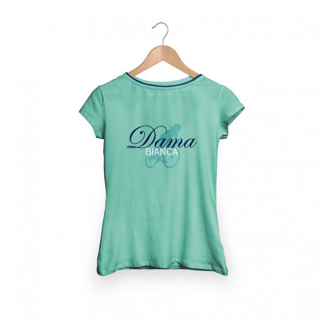 Bianchi naisten t-paita (Dama Bianca, Celeste)