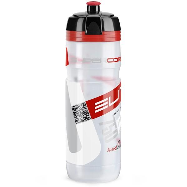 Supercorsa juomapullo (750ml, läpinäkyvä/punainen)