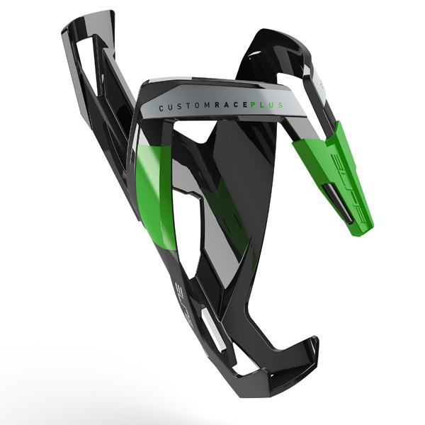 Custom Race+ polkupyörän juomapulloteline (musta/vihreä)