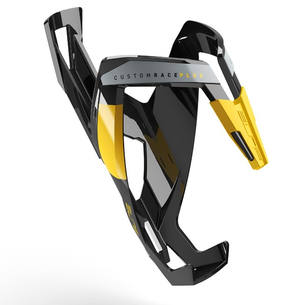 Custom Race+ polkupyörän juomapulloteline (musta/keltainen)