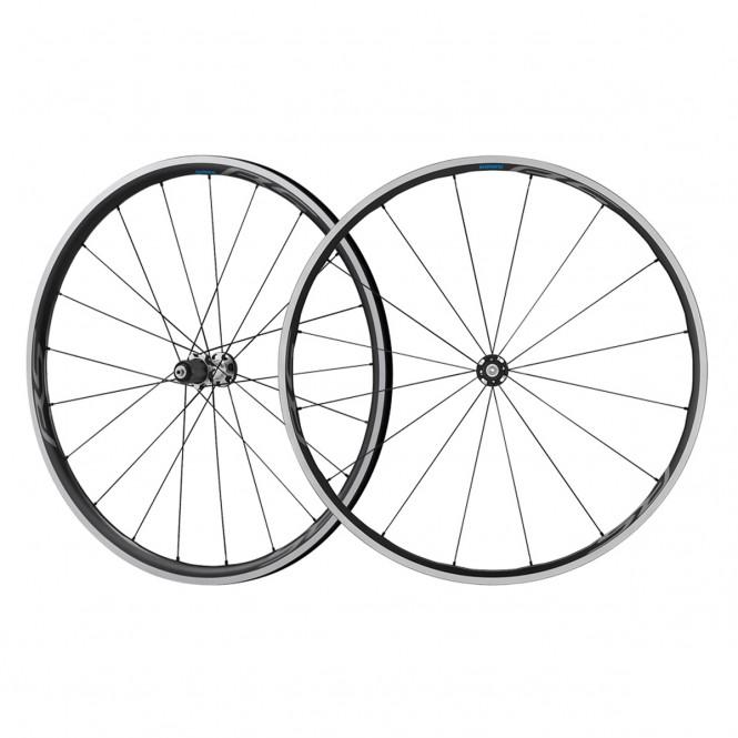 RS700-C30 maantiepyörän kiekkopari (10-11-v, pikalinkku, vannejarru, musta)