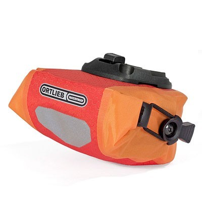 Polkupyörän istuinlaukku micro (punainen/oranssi)