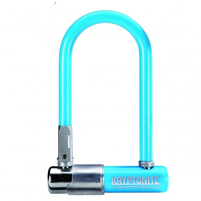Kryptolok 2 Mini7, polkupyörän U-lukko (sininen, sis telineen)