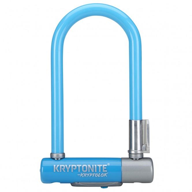Kryptolok 2 Mini7, polkupyörän U-lukko (sininen, sis. telineen)