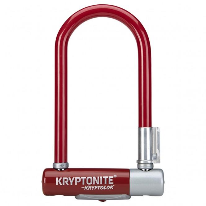 Kryptolok 2 Mini7, polkupyörän U-lukko (punainen, sis telineen)