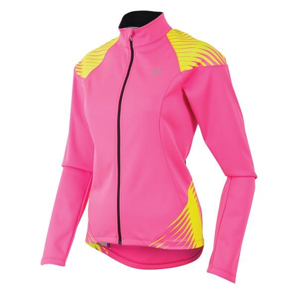 Elite 180 naisten softshell-pyöräilytakki (pinkki/keltainen)