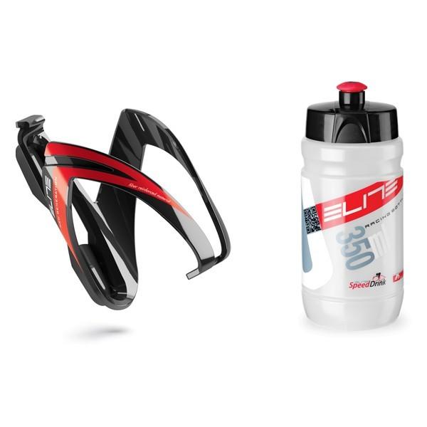 Ceo kit polkupyörän juomapulloteline + pullo (punainen)