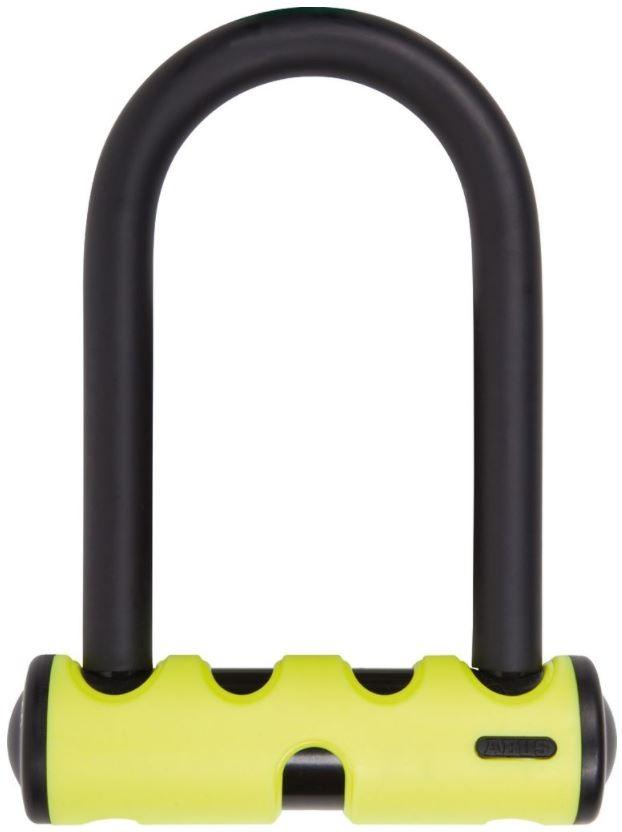 U-mini, polkupyörän U-lukko (140mm, keltainen)