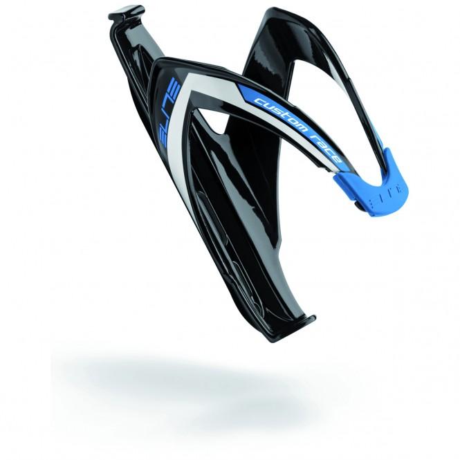 Custom Race Polkupyörän juomapulloteline (musta/sininen)