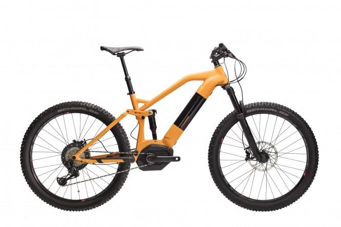 Kraft K10 Bosch 27,5 täysj. sähkömaastopyörä (12-v, oranssi/musta)