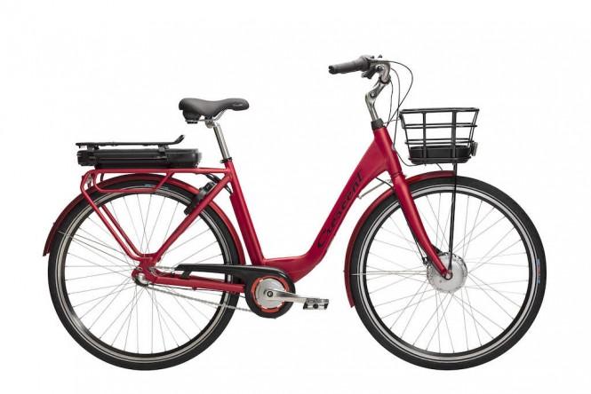 Ella E-Going, sähkökaupunkipyörä (Nexus 3-v, punainen)