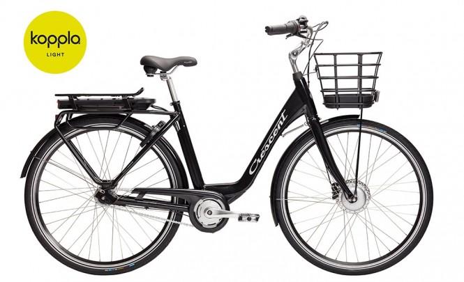 Elina, sähkökaupunkipyörä (7-vaihteinen, Musta)