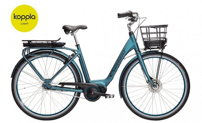 Elora, sähkökaupunkipyörä (7-vaihteinen, Matta sininen)