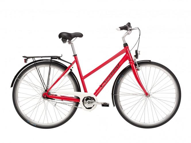 Skans, naisten kaupunkipyörä (punainen, 7-vaihteinen)