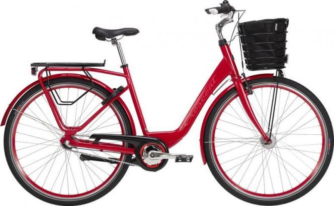 Maja, naisten kaupunkipyörä (nexus 3-v, punainen)
