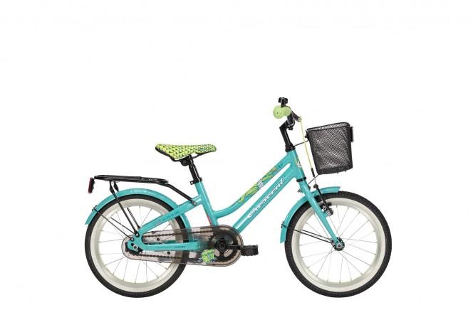 """Svava, 16"""" lasten polkupyörä (1-v, turkoosi)"""