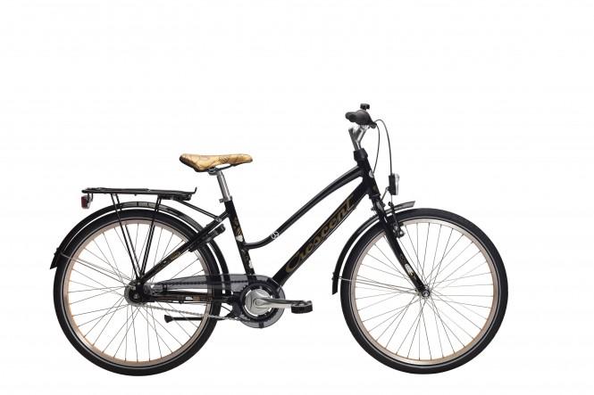 "Lone, 24"" nuorten polkupyörä (nexus 7-v, musta)"