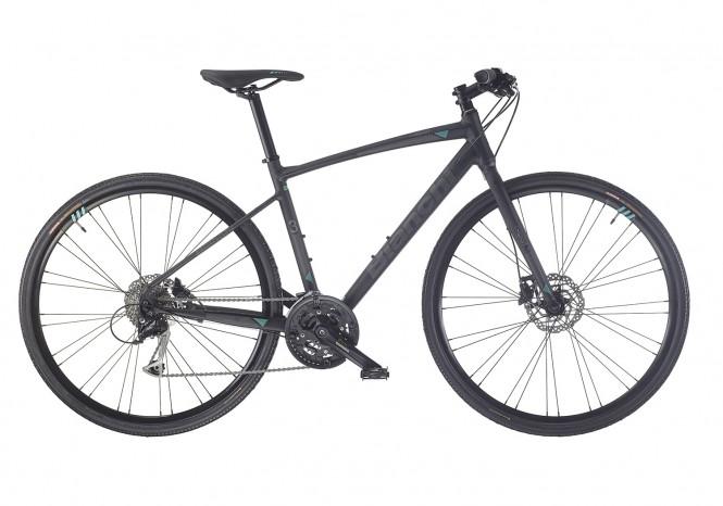 C-Sport 3, hybridipyörä (3x9-v, mattamusta/valkoinen/celeste)
