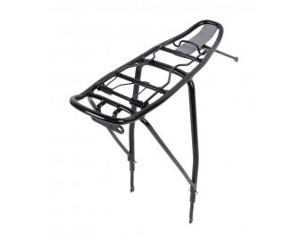 AVS polkupyörän tavarateline (24-28 pyöriin, alumiini, musta)
