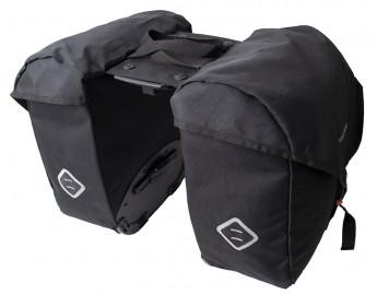 Polkupyörän sivulaukut (AVS-kiinnike, 25+25L, musta)